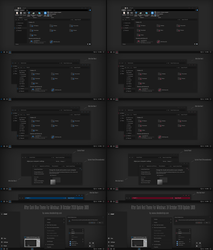 After Dark Blue and Red Theme Win10 1809 by Cleodesktop