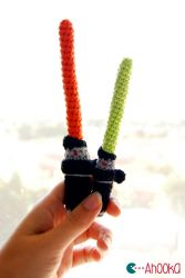 Star Wars lightsaber [crochet] pattern by Ahookamigurumi
