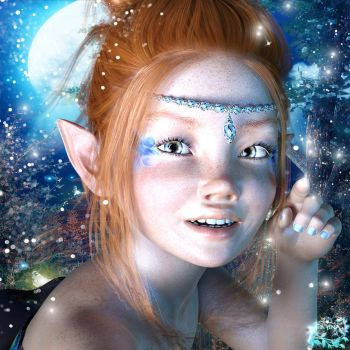 Little Blue Fairy Avatar by Filyina-SotbD