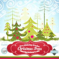 FREE CHRISTMAS TREES BRUSH SET by Romenig