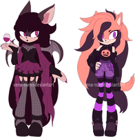 [OPEN 2/2 AUCTION] Halloween Girls by vena-num