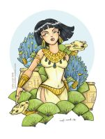 the queenly cleopatra by katiecandraw