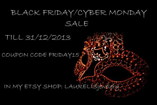 Etsy black friday/cyber monday by Laurelis