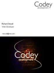 Codey Development Business Card by pixelworlds