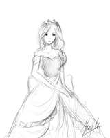 princess quick sketch by StephanieChn