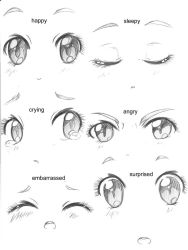 .:Manga Eyes:: Expressions:. by capochi