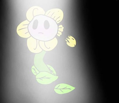 sad and hurt flowey! by GasolineDeath