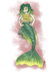 My unnamed mermaid character! by PixelWolves