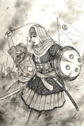 Mai Bhago Ji of Khalsa, 1705 AD - Women War Queens by Gambargin