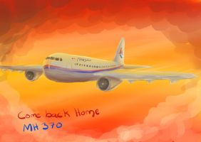 Pray for MH 370 by IneraBelle