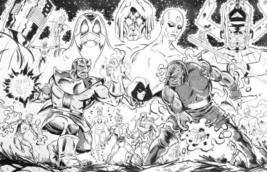 Darkseid, Thanos and Everyone Else.... by dannphillips