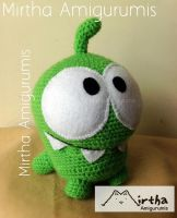 Amigurumi Omnom/Cut the rope by Mirtha Amigurumis by MirthaAmigurumis