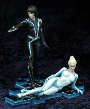 Tron Legacy   Quorra and Gem by rvbhal