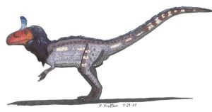 Male cryolophosaurus by SlateGray
