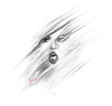 Abstract Portrait Scream female by discipleneil777