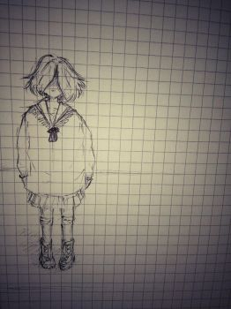 Shy (Inktober- day 7) by jhasthedeathnote