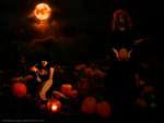 In the pumpkin patch by MindlessAngel