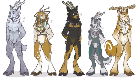 Anthro Adopts- Deerwolf [CLOSED] by ThatAlbinoThing