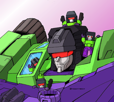 G1 Devastator and Kre-O Devastator by Swiper-dA