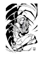 Witchblade by Randy Green InkD by Medic-911