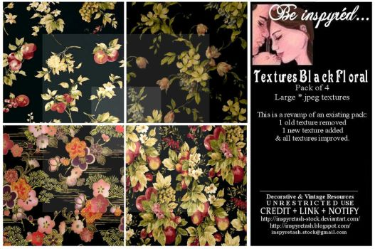 Textures Black Florals Pack by Bnspyrd
