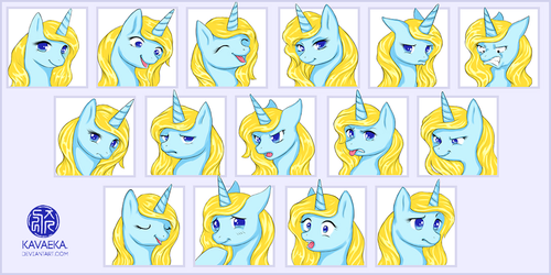 COMMISSION: Summer Expression Sheet by Kavaeka