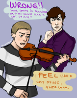 Sherlock: Violin session by punkypeggy