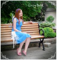 Red Haired Girl on a Bench by MelfinaCosplay