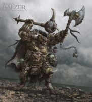Orc Quest - Gnoll War-Chief - (c) Maze Games by helgecbalzer