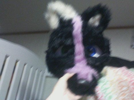Finished Fursuit head (Front) by DeathSpell1995