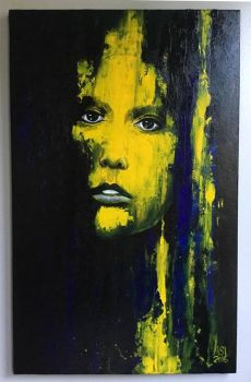 A face in Yellow by WhiteElzora