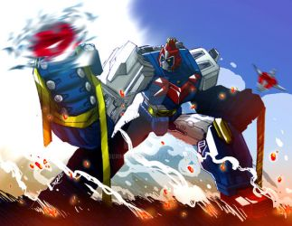 Voltes V: Ultra Magnetic Top!!! by bernce