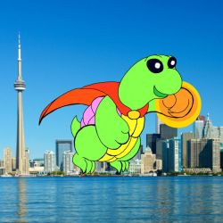 Turtle over Toronto by T-babe
