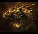 Dragon Portrait - 01 by Fleurdelyse