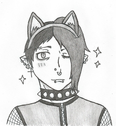 Dante with Cat Ears~ by DovahkiinRuvaak