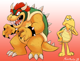 Bowser and Koopa by Mickeymonster