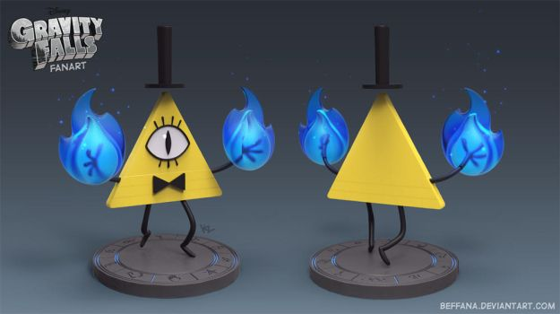 Gravity Falls - Bill Cipher fanart by Beffana