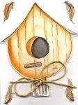 Birdhouse Notecard by concettasdesigns
