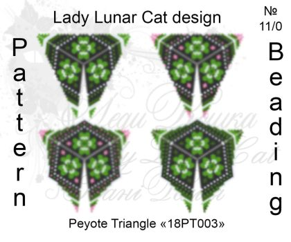 Peyote triangle 18PT003 part 1-4 by LadyLunarCat
