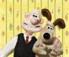 Wallace and Gromit by sweetwreck