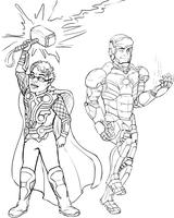 Thor Ironman by InuMimi
