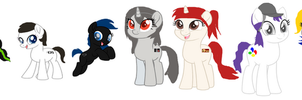 The Console Ponies in MLP The Movie Style by Grantrules