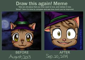 Draw this again meme- My icon by The-Tabbycat-Witch