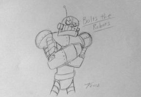 Oc: Bolts The Robot by DrMatthew178