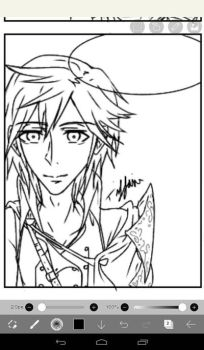 Lineart of Chrom by TiffaniCrepescule