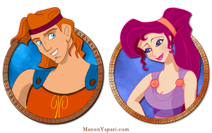 Herc and Meg by manony