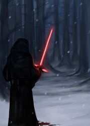 Kylo Ren Sketch by Mustang-sauvage