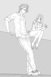 Akari and Grimmjow by osy057