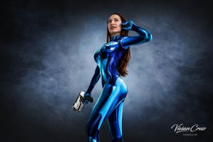 Vivian Cruz in Sexy Samus Zero Suit by VivianCruz