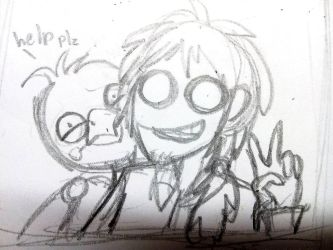 Hehe. Purple guy and Chica 2 by Phenix20122000